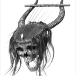人間の頭蓋骨で作られた悪魔的な楽器『リラ』(メトロポリタン美術館)